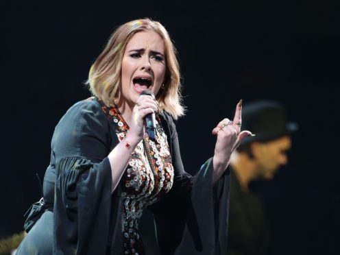 Adele is among the singers on the PRS 100 Women Changing Music chart (Yui Mok/PA)