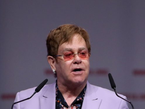 Sir Elton John enlisted some of the biggest names in music to perform live from their homes in a televised concert to raise money for the coronavirus relief effort (Gareth Fuller/PA)