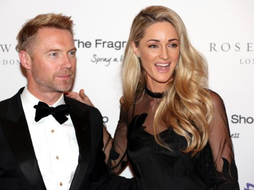 Ronan Keating and wife Storm (David Parry/PA)