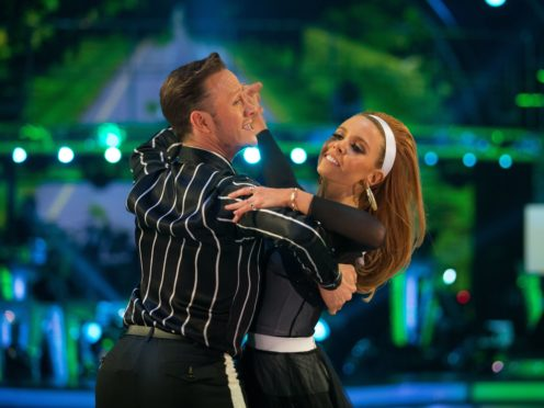 Kevin Clifton and Stacey Dooley (Guy Levy/PA)