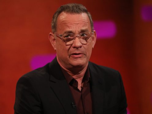 Hanks had previously revealed that he has tested positive for Covid-19 (Isabel Infantes/PA)