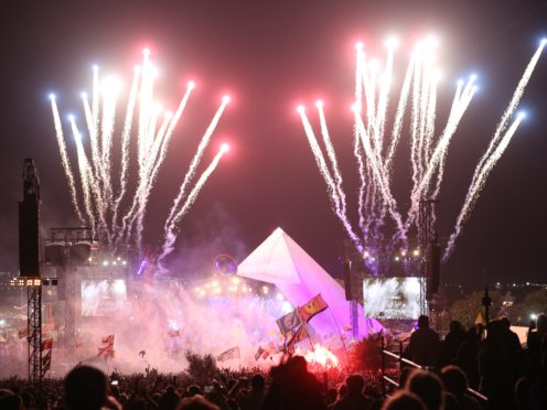 The Killers play the Pyramid Stage (Aaron Chown/PA)