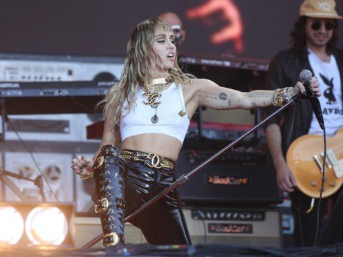 Miley Cyrus has been social distancing (Yui Mok/PA)