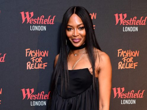 Naomi Campbell has been pictured arriving at an airport wearing a hazmat suit amid the global panic surrounding the Covid-19 outbreak (Ian West/PA)