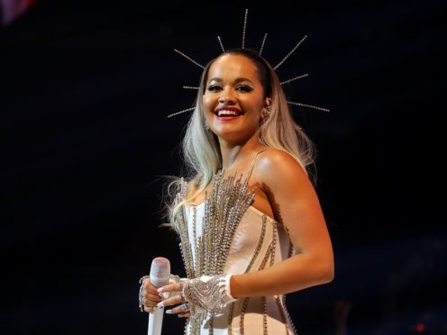 Rita Ora said that the emblem is about 'solidarity' and 'unity' (Isabel Infantes/PA)
