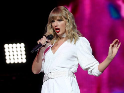Taylor Swift is the global recording artist of the year (Isabel Infantes//PA)