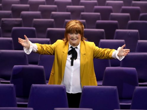 Susan Boyle at the SEC Armadillo in Glasgow (Andrew Milligan/PA)