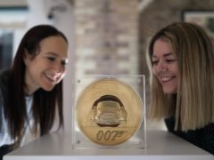 The Bond coin is the highest face value coin produced in the Royal Mint's 1,100-year history (Yui Mok/PA)