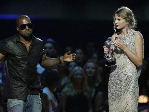 Taylor Swift says the leaked 2016 phonecall between her and Kanye West proves she was 'framed' (AP Photo/Jason DeCrow, File)