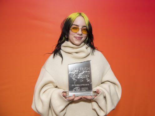 Billie Eilish has won a major global accolade for her hit single Bad Guy (Carsten Windhorst/IFPI/PA)