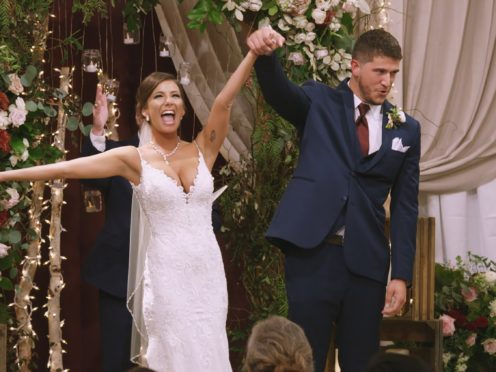 Amber Pike and Matt Barnett got married on Love Is Blind (Netflix/PA)