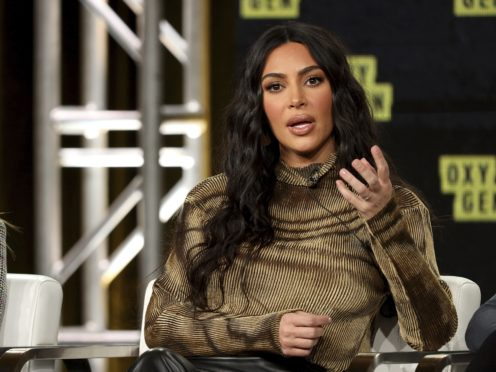 Kim Kardashian West speaks at the Kim Kardashian West: The Justice Project panel in January (Willy Sanjuan/Invision/AP)