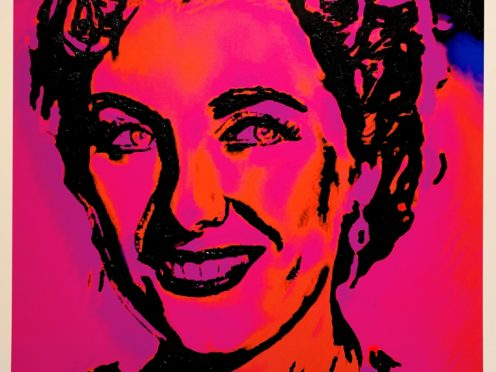 Artist Lincoln Townley has created a one-off piece of art of war-time icon Dame Vera Lynn to raise funds for charities on the frontline of the coronavirus crisis (Lincoln Townley/PA)
