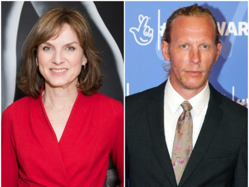 Fiona Bruce said she was briefed about Laurence Fox before his Question Time appearance (PA)