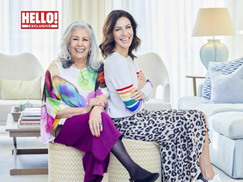 Julia Bradbury and her mother Chrissi (Hello! magazine/PA)