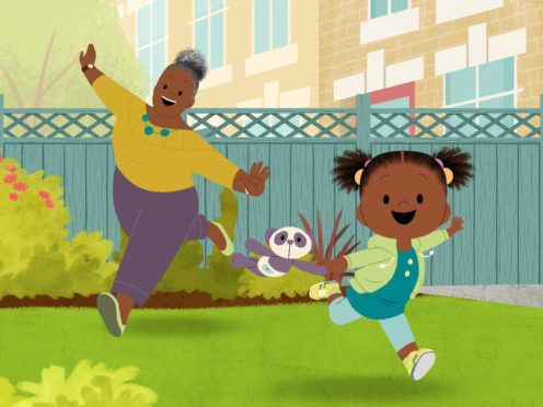 Gran Gran (left) and JoJo (right) in the new CBeebies animation JoJo & Gran Gran (BBC/PA)