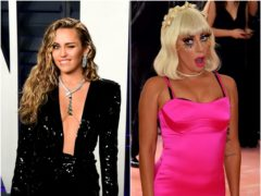 Miley Cyrus and Lady Gaga are among the self-isolating celebrities updating fans amid the coronavirus outbreak (Ian West/Jennifer Graylock/PA)