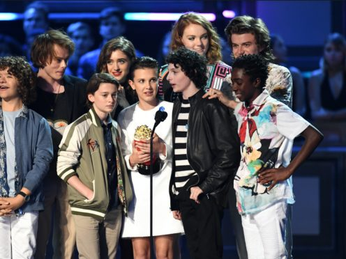 Finn Wolfhard and the cast of Stranger Things (PA)