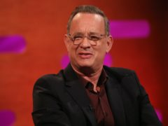 Tom Hanks shared a bag of the blood plasma he donated to researchers after overcoming coronavirus (Isabel Infantes/PA)