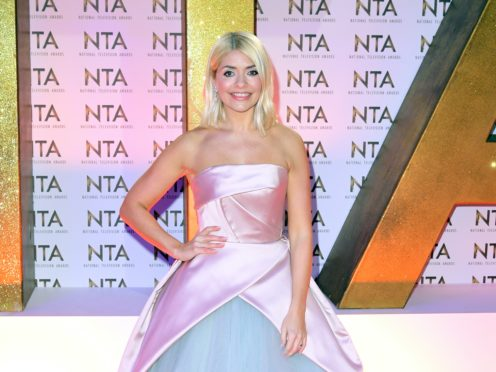 Holly Willoughby was among the stars saluting the nation's frontline workers putting their lives at risk in the fight against coronavirus (Ian West/PA)
