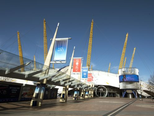 The O2 arena has temporarily closed due to coronavirus, with the music industry reeling from the pandemic (Ian West/PA Wire)