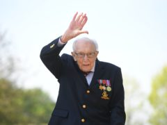 Captain Tom Moore served in Burma during the Second World War (Joe Giddens/PA)