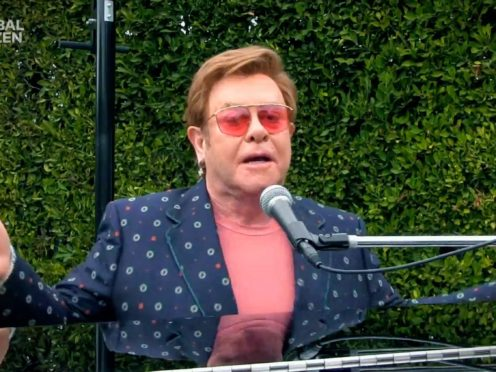 Sir Elton John performs during One World: Together At Home (Getty Images for Global Citizen/PA)