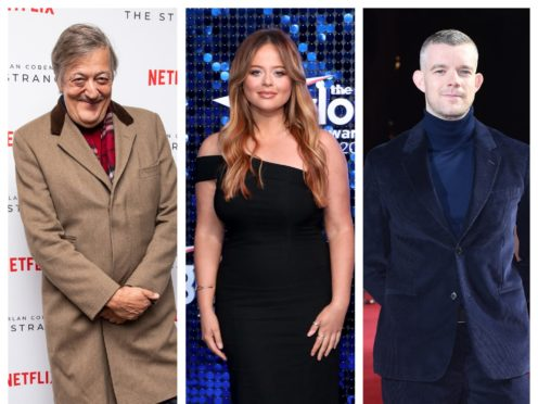 Stephen Fry, Emily Atack and Russell Tovey will star in the two-part production (PA)