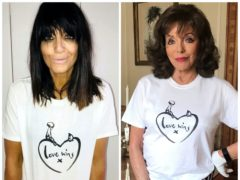 Claudia Winkleman and Joan Collins (Comic Relief/PA)