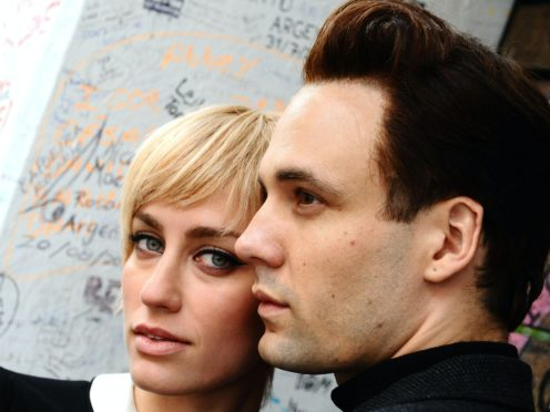 Actors Ruta Gedmint, as Astrid Kirchherr, and Nick Blood, as Stuart Sutcliffe, starred in the play Backbeat (Ian West/PA)