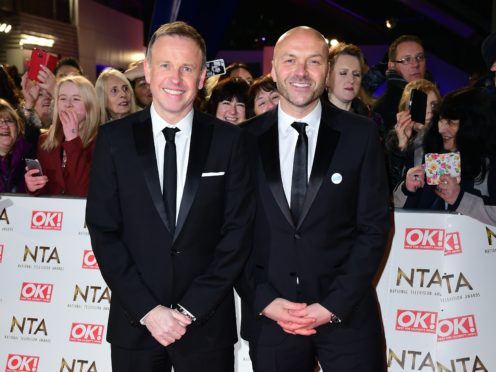 Tim Lovejoy and Simon Rimmer were back in the studio to present the show live (Ian West/PA)