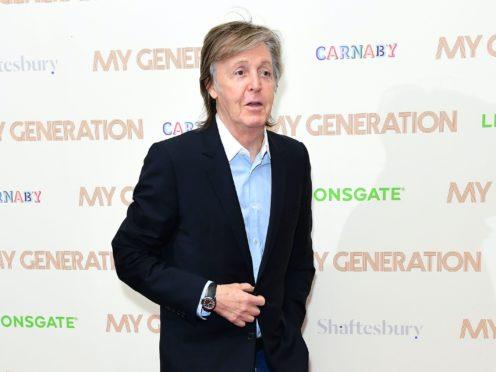 Sir Paul McCartney's handwritten lyrics to Beatles hit Maxwell's Silver Hammer are going under the hammer (Ian West/PA)