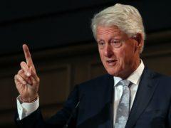Former US president Bill Clinton (Brian Lawless/PA)