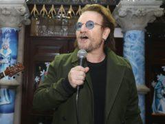 Bono's handwritten lyrics are up for auction (Lorraine O'Sullivan/PA)