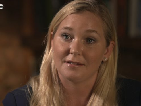 Virgina Guiffre on Panorama (BBC Panorama/PA)