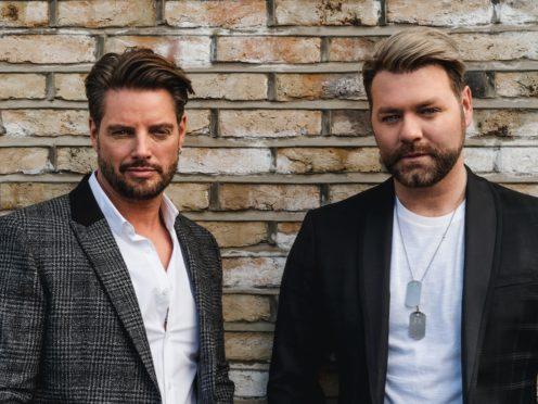 Keith Duffy and Brian McFadden of Boyzlife (Boyzlife)