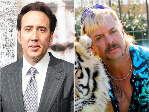 Nicolas Cage and Joe Exotic (Ian West/Netflix/PA)