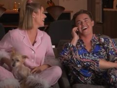 Jesse McCartney and Katie Peterson on Celebrity Watch Party (Fox/E4)