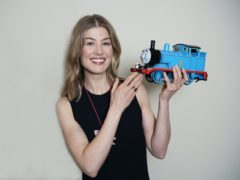 Rosamund Pike is one of the famous faces to have lent her voice talents to Thomas & Friends (Mattel, Inc/PA)