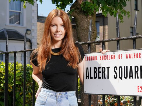 Stacey Dooley in Albert Square (BBC/PA)