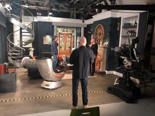 The Emmerdale set (ITV/Emmerdale via AP)