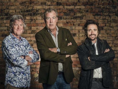 The Grand Tour presenters James May, Jeremy Clarkson and Richard Hammond (Amazon Prime Video/PA)