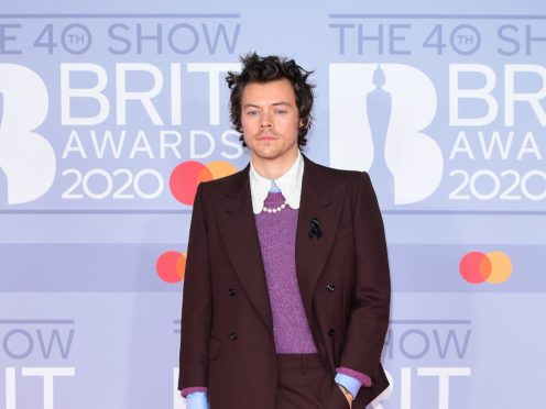 Harry Styles has become the latest famous face to collaborate with Calm (Ian West/PA)