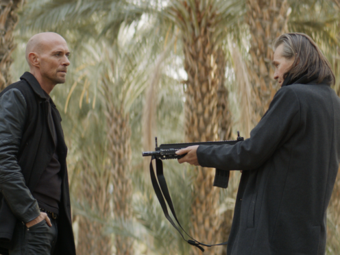 Actor and singer Luke Goss has revealed he embraced Val Kilmer for 30 seconds when they met for the first time on the set of their new action film (101 Films/PA)
