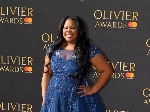 Amber Riley performed a moving tribute to her late Glee co-star Naya Rivera, who died last month at the age of 33 (Chris J Ratclife/PA)