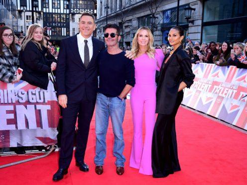 David Walliams, Simon Cowell, Amanda Holden and Alesha Dixon (Ian West/PA)