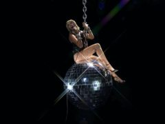 Miley Cyrus reenacted her famous Wrecking Ball music video during a performance at the MTV Video Music Awards (MTV/PA)