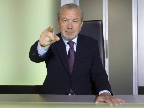 """The BBC made the """"right decision"""" in postponing this year's series of The Apprentice due to the pandemic, Lord Alan Sugar has said (Jim Marks/BBC/PA)"""
