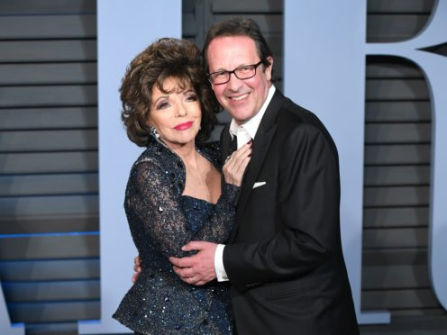 Joan Collins and Percy Gibson (PA)