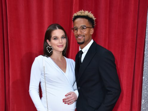 Helen Flanagan and Scott Sinclair (Matt Crossick/PA)